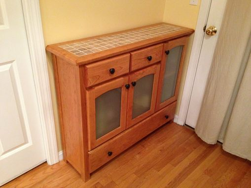 Custom Made Liquor Cabinet And Buffet Table
