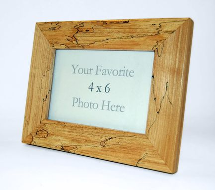Custom Made Spalted Maple 4 X 6 Picture Frame