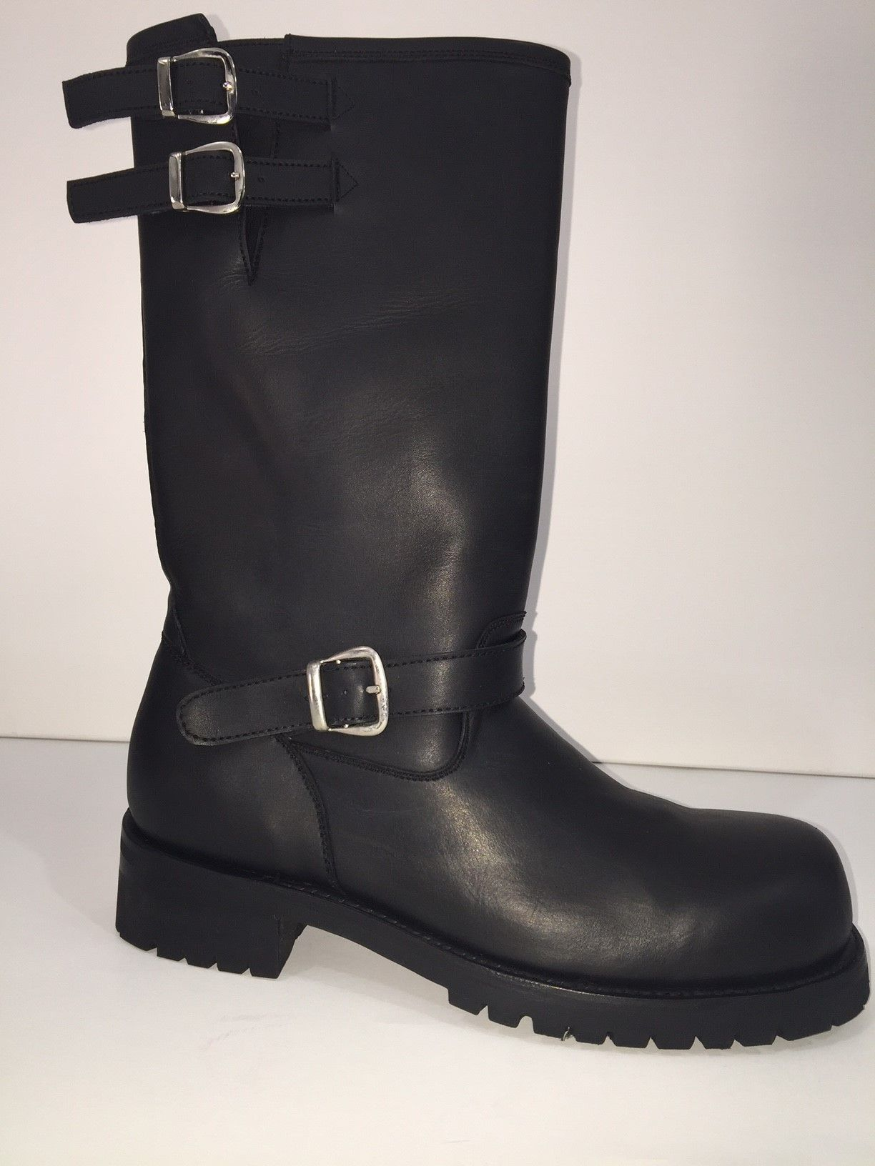 Hand Crafted New Never Used 14 Tall Engineer Boots Thick Leather Dull Finish Men Size By Custom