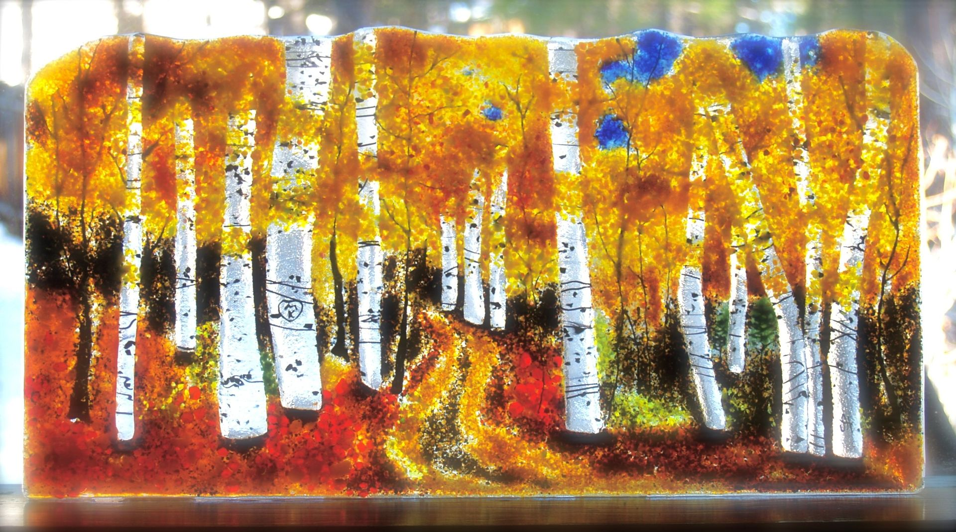 Custom Aspen Trees Hike By Hartman Glass Art Custommade Com