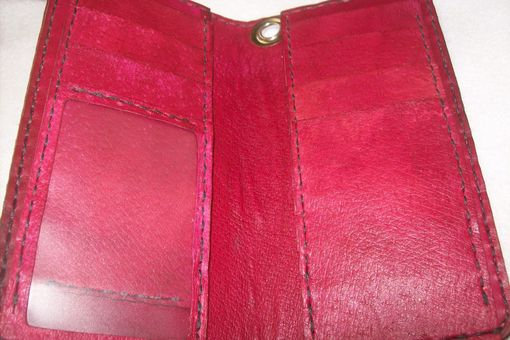Custom Made Custom Leather Biker Wallet With Texas Star