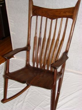 Custom Made Maloof Style Walnut Rocker