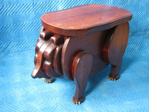 Custom Made Rustic Bear Table Solid Mixed Hardwoods