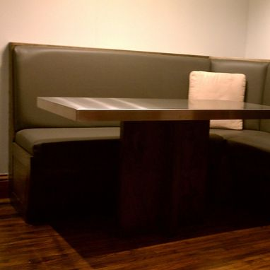 Custom Made Built-In Booth And Table