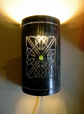 Custom Made Hand Stamped Celtic Tin Sconce