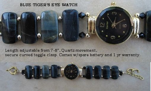 Custom Made Blue Tigers Eye Watch