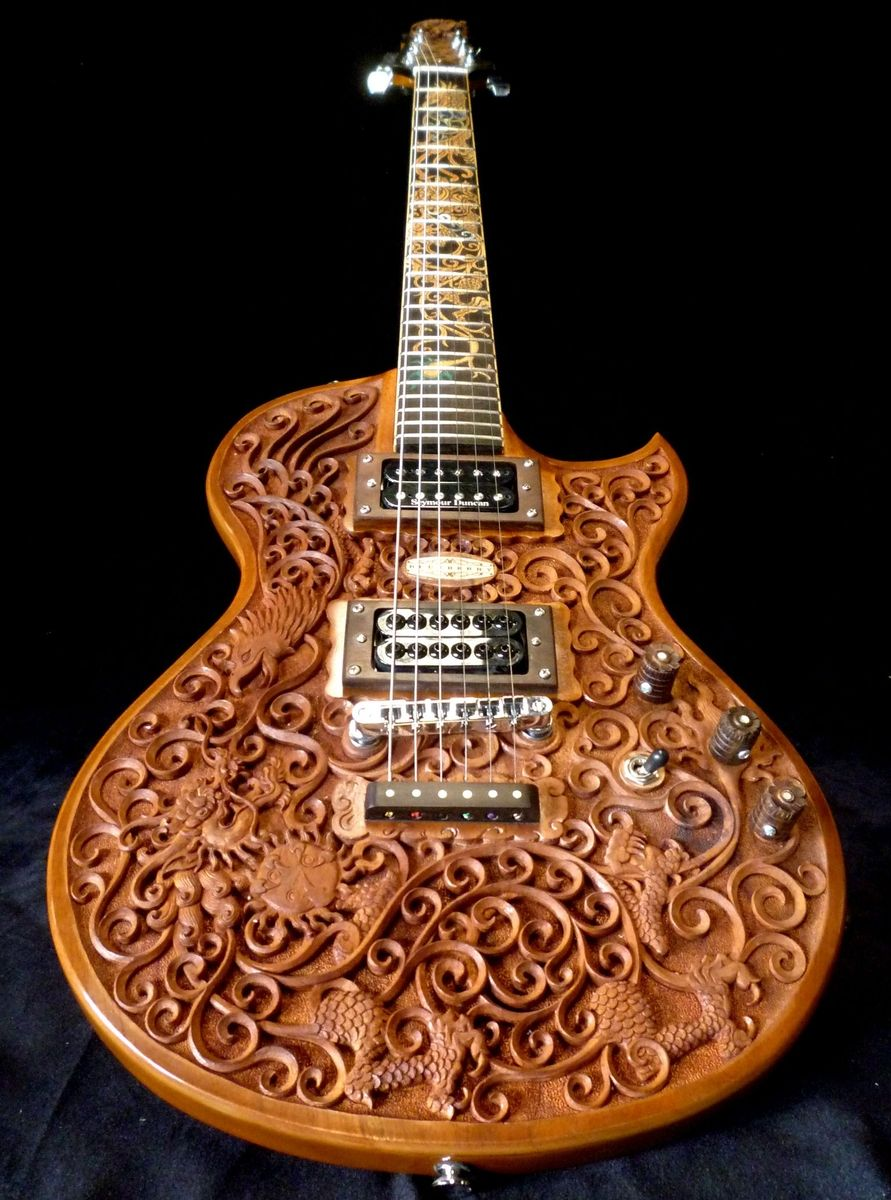Custom Blueberry Quot Hawk Amp Dragon Quot Electric Guitar By
