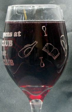Custom Made Personalized Wine Glasses