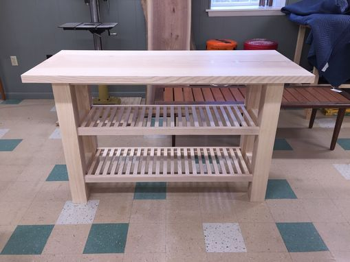 Custom Made Ash Slab Kitchen Island / Prep Station