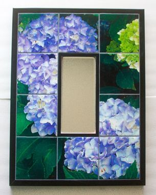 Custom Made Hydrangea Ceramic  Tile Mirror Mural