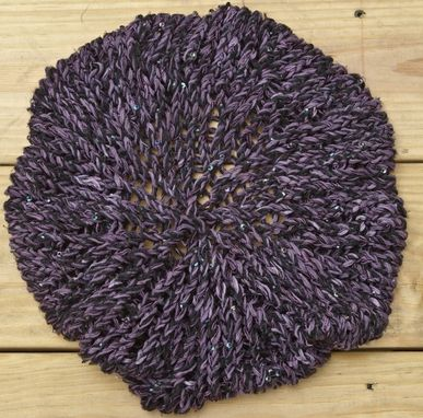 Custom Made Slouchy Purple Beret
