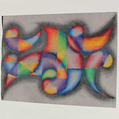 Custom Made Original Abstract Colored Pencil Drawing