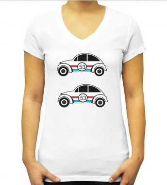 Custom Made Cute Car Tshirt- Modern Tshirt- Colorful Tshirt- Fun White Tshirt