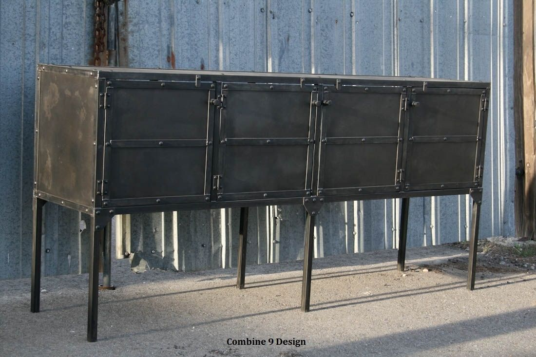 buy custom buffet hutch modern industrial mid century sideboard media console rusti made. Black Bedroom Furniture Sets. Home Design Ideas