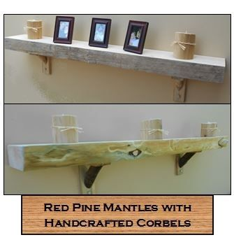 Custom Made Rustic Slab Mantles And Floating Shelves