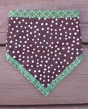 Custom Made Emerald Geometric Bandana Bib For Baby