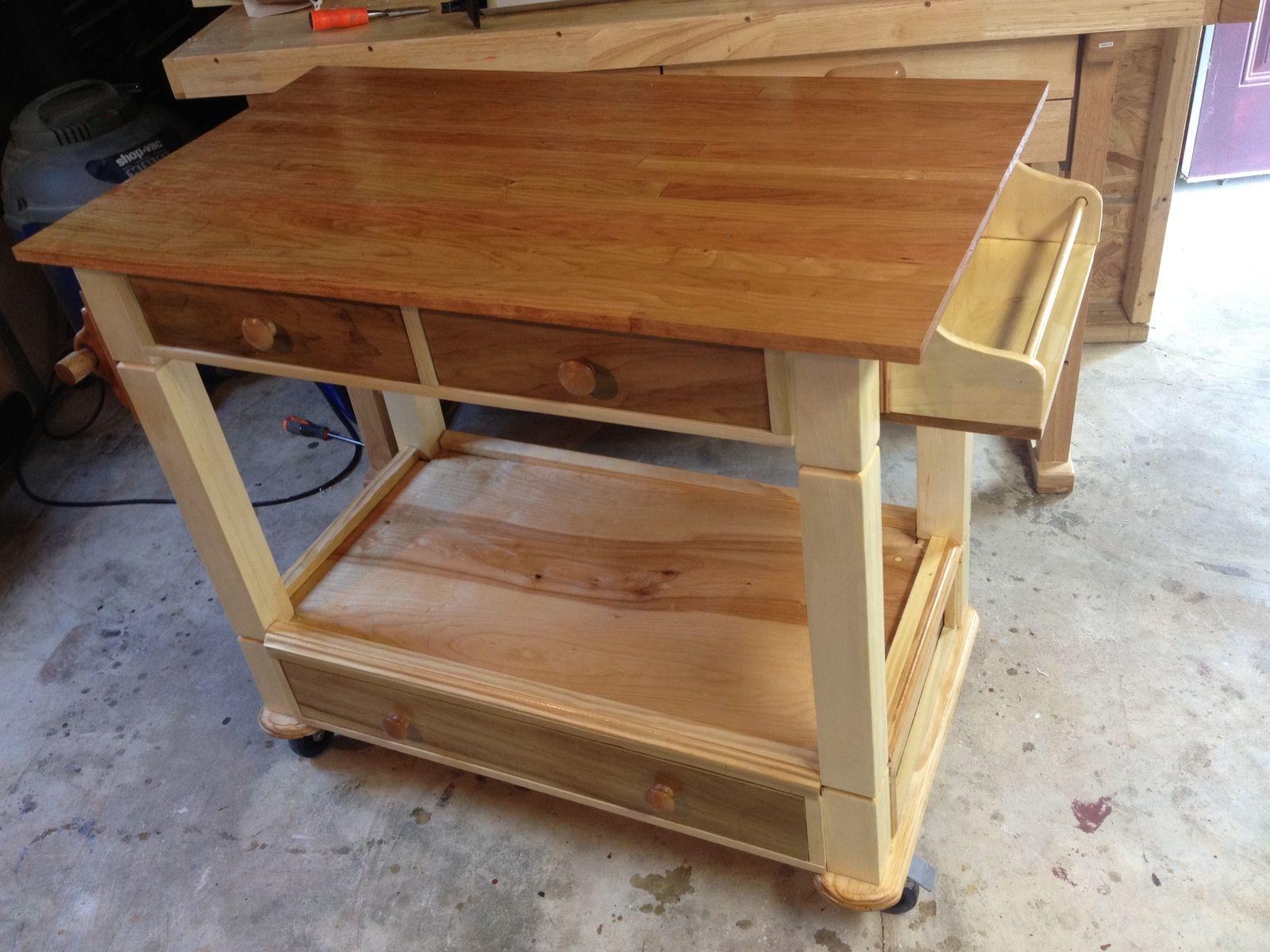 handmade kitchen workstationall solid wood furniture