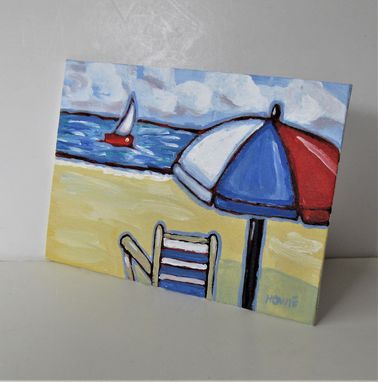 "Custom Made Original Impressionist Nautical Acrylic Painting, 7"" X 5"""