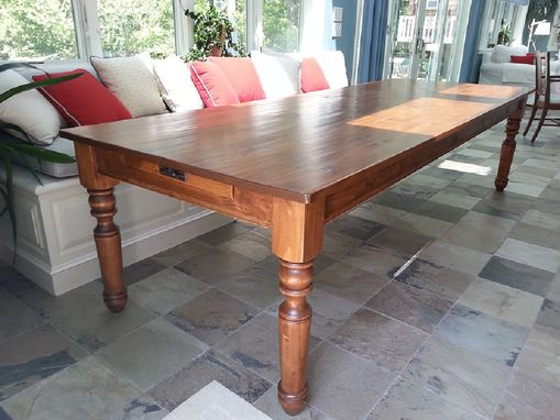 Custom Made Hand Planed, Distress Pine Dining Table