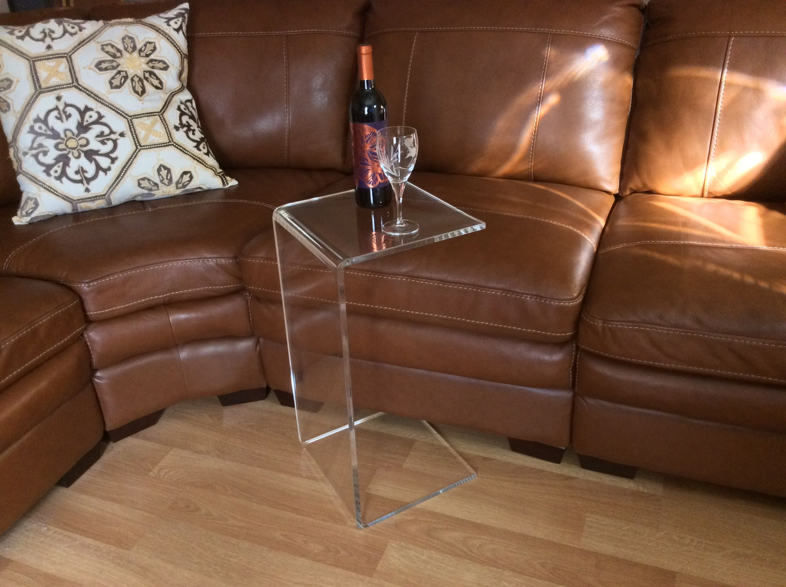 Buy A Hand Crafted CTable Clear Acrylic Lucite Sofa End Side Table - 26 high end table