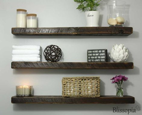 Custom Made Reclaimed Wood Floating Shelf
