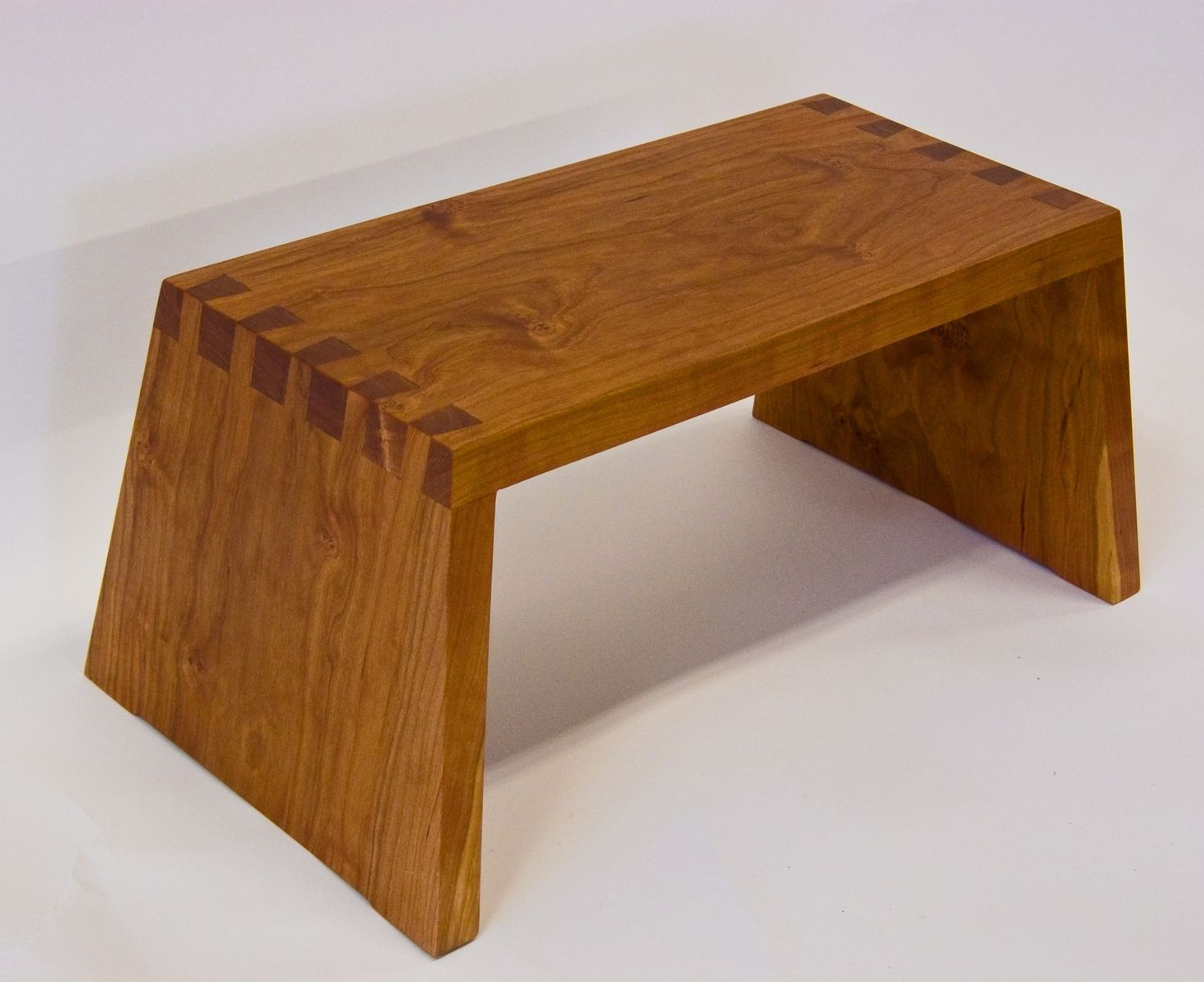Hand Made Cherry Step Stool By David Munkittrick