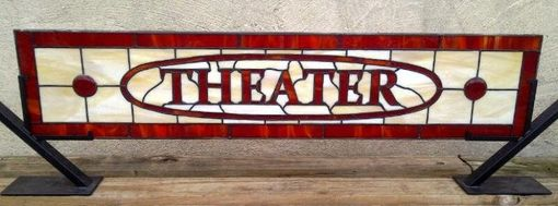 Custom Made Stained Glass Window Panel - Theater Room (Tw-31)
