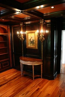 Custom Made Bookcase, Cabinets, Wall Panelling