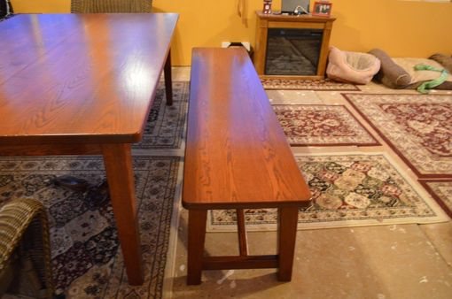 Custom Made Dining Table W Benches