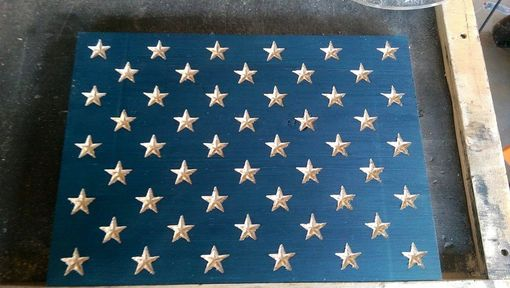 Custom Made Multi-Board Cedar Pine Redwood American Flag