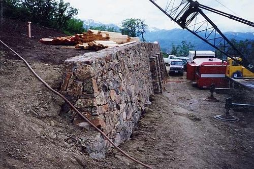 Custom Made Custom Rock Work For Private Residence Garage