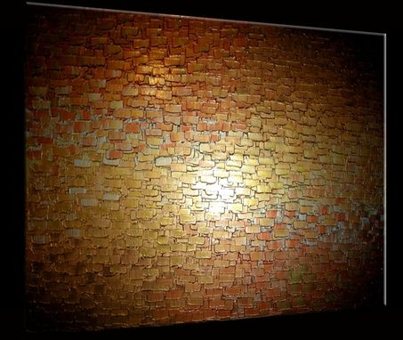 Custom Made Original Thick Textured Painting By Dan Lafferty - Gold Metallic Abstract Bronze Modern Impasto