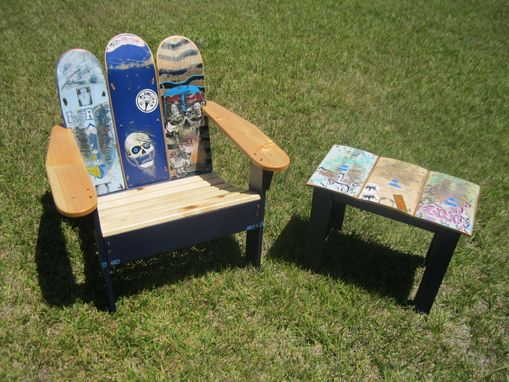 Custom Made Adirondack Chair From Repurposed Skateboards