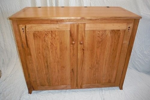Custom Made Cherry T.V. Lift Cabinet
