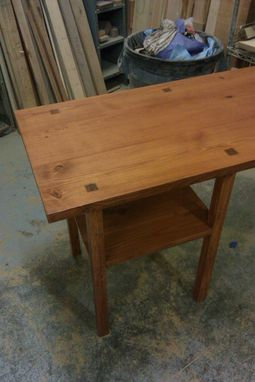 Custom Made Reclaimed Yellow Pine Desk