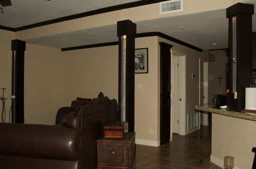 Custom Made Lighted  Travertine Stone Architectural Posts