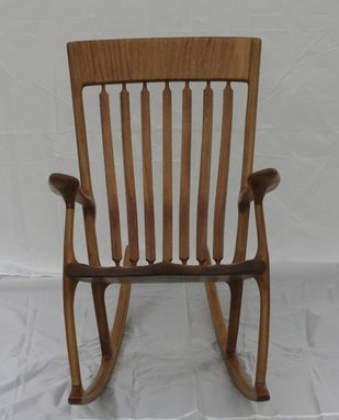 Custom Made Iroko (African Teak) Rocking Chair
