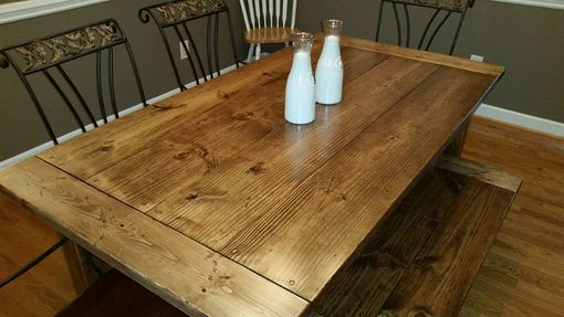Custom Made Rustic Farmhouse Dining  Table