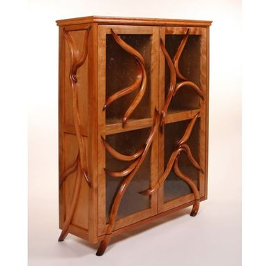 Custom Made Carved Maple Cabinet