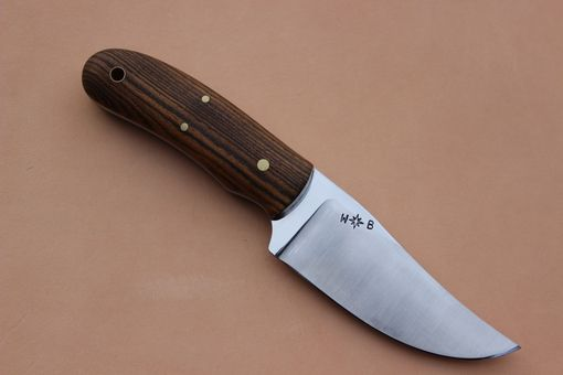 Custom Made Handmade Custom Skinning Knife Bocote Wood Handle