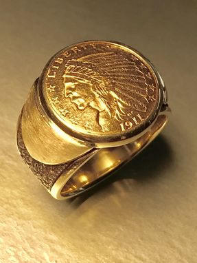 Custom Made Custom Made Mens Gold Coin Ring