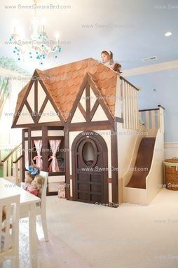 Custom Made Girls Playhouse Dollhouse Bed