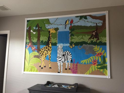 Custom Made Safari Mural On Canvas