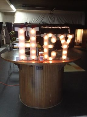 Custom Made On Sale Circus Marquee Metal Letters 24 Inch Tall Lighted Custom Finish Included
