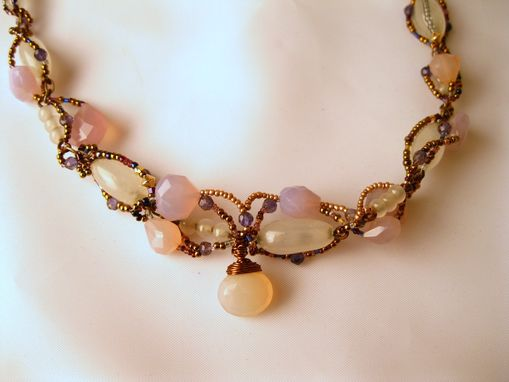 Custom Made Seed Beads, Stones, And Crystals - Woven, Entwined Necklaces