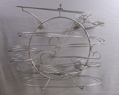 Custom Made Wall Hanging Kinetic Stainless Steel Rolling Ball Sculpture