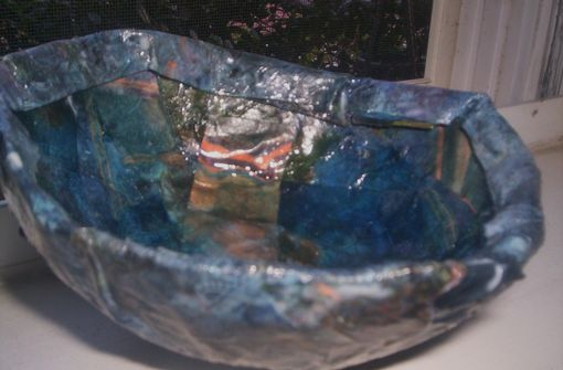 Custom Made Paper Mache Decorative Bowl