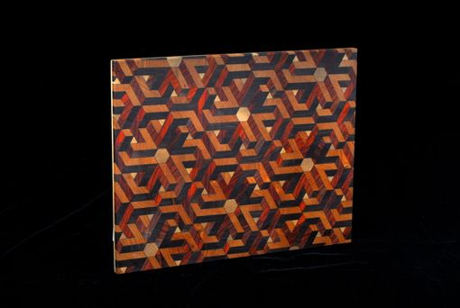 Custom Made Discontinued - Laser Cut Geometric End-Grain Cutting Board #1