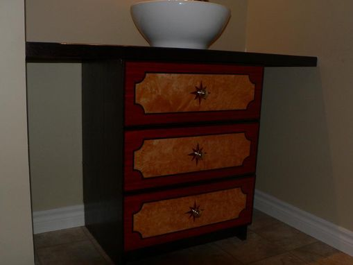 Custom Made Red Oak Bathroom Vanity
