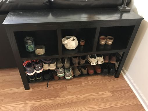 Custom Made Shoe Rack And End Table